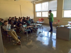 Every classroom discussed digital citizenship. Here, an accounting class discusses the implications of online activity.