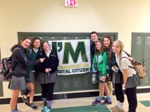 """To celebrate its first-ever Digital Citizenship Day, McNick staff posted photos all day long with the hashtag """"digcit"""" on Twitter and other social media. This is the first one of the day. Photo courtesy McNicholas High School."""