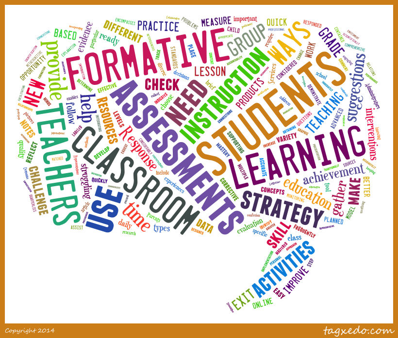 Formative Assessment Word Cloud